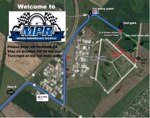 Directions to MPR Raceway